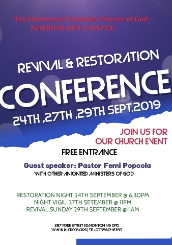 revival & restoration conference 2019